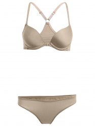 Underwire Push Up Demi Bra and Panty -