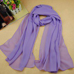 Chic High Quality Solid Color Chiffon Scarf For Women - LIGHT PURPLE