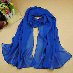 Chic High Quality Solid Color Chiffon Scarf For Women - SAPPHIRE BLUE