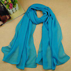 Chic High Quality Solid Color Chiffon Scarf For Women - LAKE BLUE