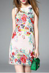 Sleeveless Floral Embroidered Mini Dress -