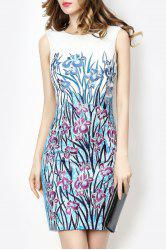 Embroidered Floral Race Day Dress - WHITE 2XL