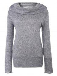 Casual style Heaps Collar manches longues pur Jumper Femmes Couleur