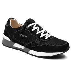 Trendy Mesh and Solid Color Design Athletic Shoes For Men -