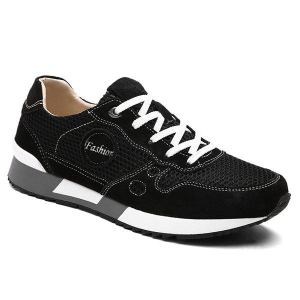 Trendy Trendy Mesh and Solid Color Design Athletic Shoes For Men
