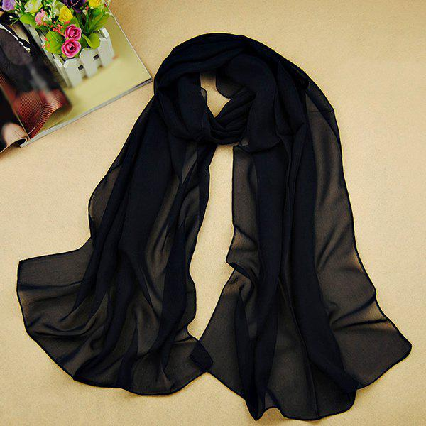 Chic High Quality Solid Color Chiffon Scarf For WomenACCESSORIES<br><br>Color: PURPLISH BLUE; Scarf Type: Scarf; Group: Adult; Gender: For Women; Style: Fashion; Material: Polyester; Season: Fall,Spring,Summer; Scarf Length: 135-175CM; Scarf Width (CM): 50CM; Weight: 0.073kg; Package Contents: 1 x Scarf;
