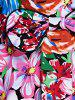 Retro Colorized Floral Sleeveless Sweetheart Neck Women's Dress - COLORMIX S