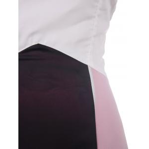 Stylish Strapless Color Block Maxi Prom Dress For Women -