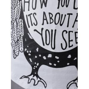 Fashionable Sleeveless Scoop Neck Cartoon Owl Printing Vest For Women -