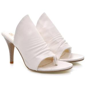Stylish Solid Colour and Stiletto Heel Design Slippers For Women -
