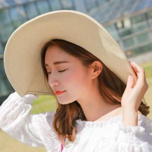 Chic Colorful Pompon Embellished Summer Sunscreen Straw Hat For Women -