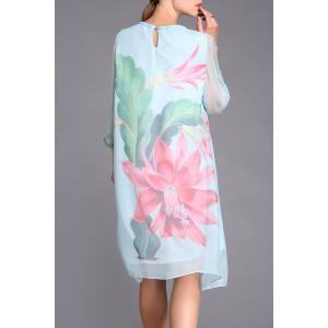Large Flower Print Dress -