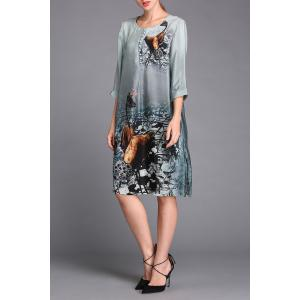 Single Breasted Printed Dress -