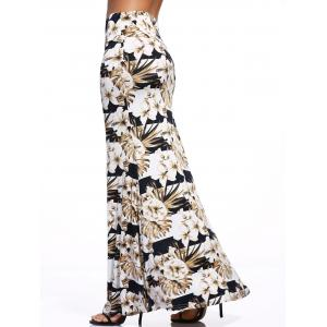 Stylish Women's Floral Print Over Hip Skirt -