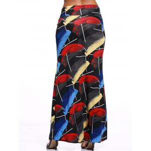 Stylish Women's Multicolor Tie Dye Over Hip Skirt -