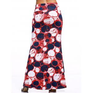 Stylish Women's Multicolor Circle Over Hip Skirt -