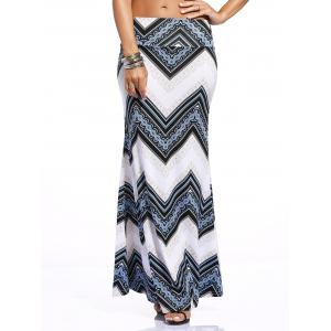 Stylish Women's Zigzag Print Over Hip Skirt -