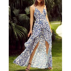 Floral Backless Maxi Slip Flowy Summer Dress