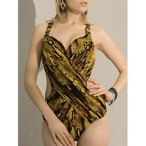 Low Cut Leopard Monokini One Piece Swimwear