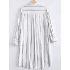 Casual Long Sleeves Striped Shirt Dress For Women -