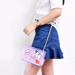 Sweet Transparent and Cartoon Print Design Crossbody Bag For Women -
