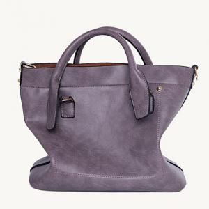 Trendy Dark Color and Stitching Design Tote Bag For Women -
