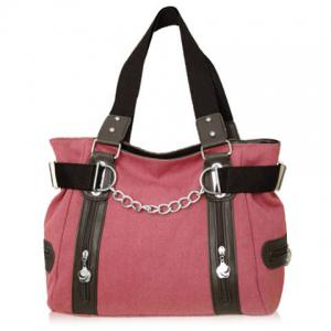 Casual Chain and Canvas Design Tote Bag For Women -