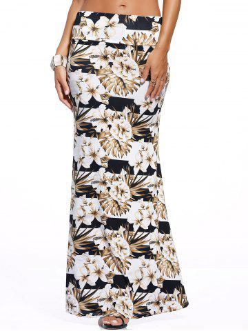 Latest Stylish Women's Floral Print Over Hip Skirt