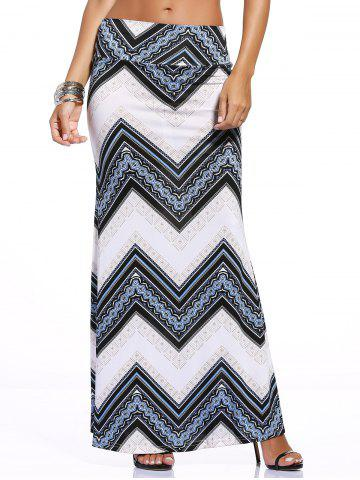 Unique Stylish Women's Zigzag Print Over Hip Skirt