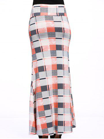 Best Stylish Women's Colorful Plaid Over Hip Skirt