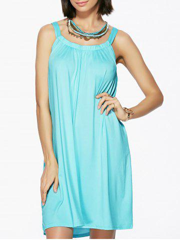 Latest U Neck Pleated Casual Summer Dress