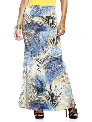 Chic Charming High-Waisted Floral Print Skinny Slimming Women's Skirt
