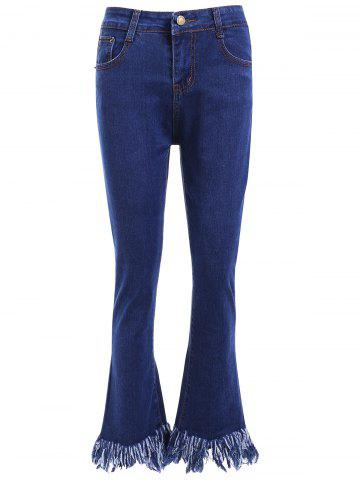 Best High Waist Fringed Flare Jeans