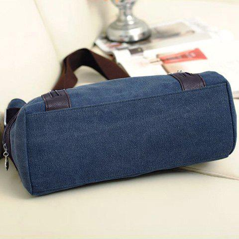 Shops Casual Chain and Canvas Design Tote Bag For Women - BLUE  Mobile