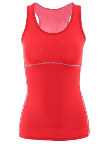 Outfit U Neck Racerback Yoga Running Tank Top RED L
