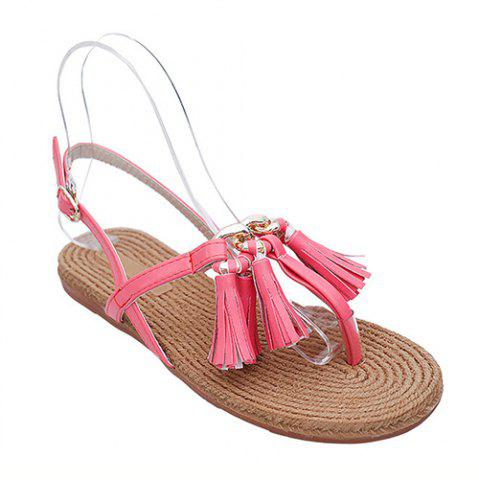 Shops Leisure Tassels and Flat Heel Design Sandals For Women