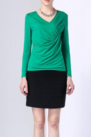 Latest Solid Color Back Zipper Chiffon Bodycon Skirt