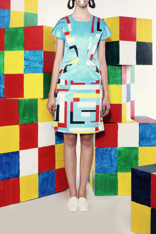 Outfit Twist Front Stereoscopic Printed Dress