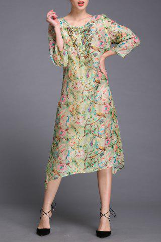 Shop Beaded Floral Print Dress Twinset