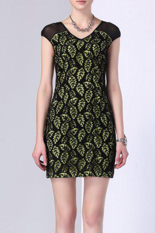 Discount Lace Sheath Mini Dress