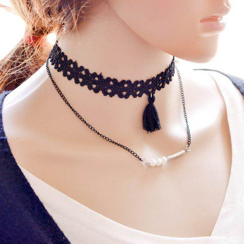 Fashion Vintage Layered Tassel Faux Pearl Necklace For Women