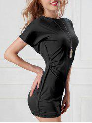 Batwing Round Neck Over Hip Bodycon Bandage Dress