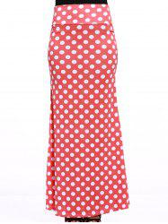 Stylish Women's Red Polka Dot Over Hip Skirt