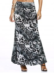 Chic Inkblot Print Long Skirt For Women -