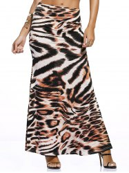 Novelty Tiger Print Maxi Skirt For Women