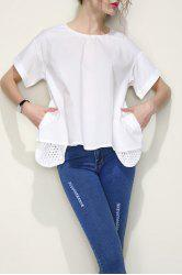 Chic A-Line Solid Color Top -
