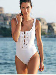 Alluring Low Cut Tie-Up Women's One-Piece Swimwear -