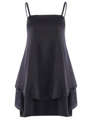 Layered Flouncing Chiffon Swing Dress -