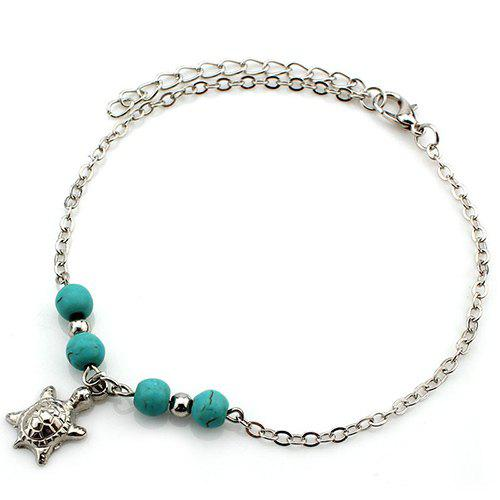 Latest Delicate Turquoise Beads Sea Turtle Anklet For Women