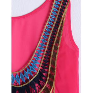 Stylish Scoop Neck Crochet Backless Top For Women -
